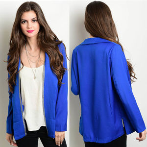 Jackets & Blazers - Royal blazer with embellished open front trim